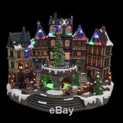 12.5 in. Animated Holiday Downtown Village House Musical Christmas Decor Diplay
