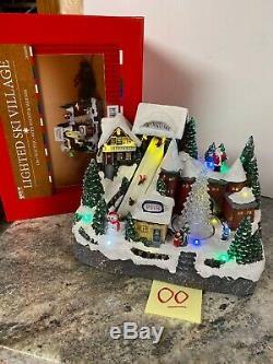 12 Christmas Pub Bar Snow Ski Village Slope Santa Tree Animated Lighted Musical