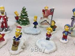 Simpsons Christmas Village.14 Simpsons Figure Hawthorne Village Christmas Homer