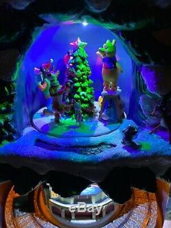 17.5 Disney Christmas Animated Train Tree Music Lighted Dumbo Goofy Mickey Pooh