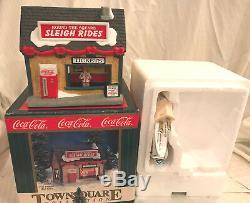 1999 Coca Cola Town Sq Set/7 Polar Pal Jordan's Jack's Bus Sleigh Motel Eckerd's