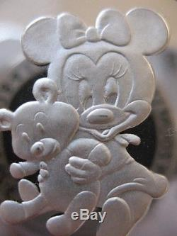 1-oz. 999 Silver Mickey& Minni's Baby Girl 1st Treasure's Christmas Coin + Gold