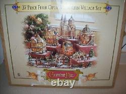 2003 Grandeur Noel 37 Piece Fiber Optic Victorian Village Set 4196