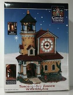 2003 Lemax Carole Towne Collection Tuscany Bell Tower with Adapter RARE