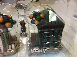 2004 Lemax Village Collection Carnival Kiosks Set Of 5