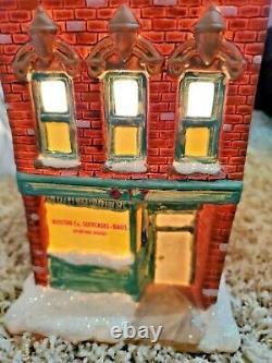 2005 Its A Wonderful Life Illuminated Village Boston Co. Suitcase Store Village
