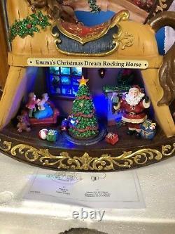 21 Emma Christmas Village Rocking Horse Lighted Animated Music Tree Train Santa