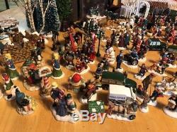 St Nicholas Christmas Village.222 Lot Christmas Village People Trees Accessories Dept 56 Lemax St