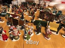 222 Lot Christmas Village People Trees Accessories Dept 56 Lemax St Nicholas Sq
