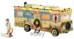 2x New Dept 56 Christmas Vacation Lighted Cousin Eddie's RV & Figurine, Griswold