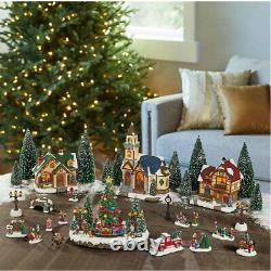 30-piece Holiday Village Set, Christmas Holiday Decor