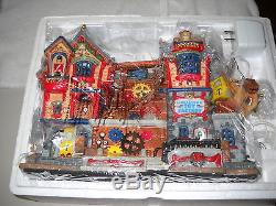 #6344 LEMAX Carole Towne 2005 Tinkertown Toy Factory Lighted Porcelain House
