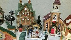 70 Piece Beautiful Lighted Victorian Christmas Village Set