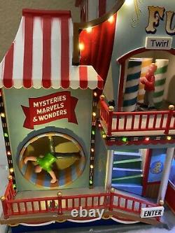 ANIMATED Lemax CIRCUS FUNHOUSE Holiday Village Carnival NEW IN BOX Musical Light