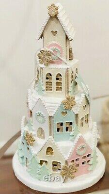 Abbot Light Up Christmas Gingerbread House Glitter & Snow LED Large New