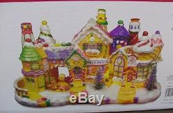 Animated Christmas Fiber Optic Music & Motion Gingerbread Village Lg & Ornate