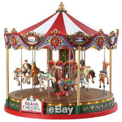 Animated Lemax Christmas Village Accessory The Grand Carousel Table Decoration