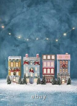 Anthropologie George & Viv Light-Up Holiday Village Townhouse Emily Taylor House