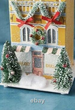 Anthropologie George and & Viv Light-Up Holiday Village Bakery Row House Shop