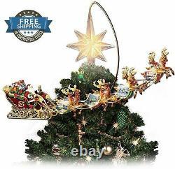Bradford Exchange Christmas Thomas Kinkade Tree Topper Motion Illuminate Holiday
