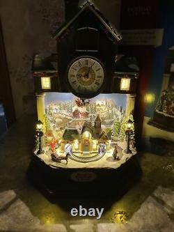 Bree Cuckoo Clock Christmas Animated Lighted Train Santa Sleigh Mountain Village