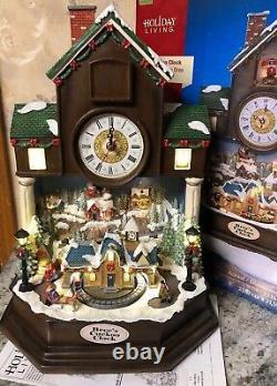 Bree Cuckoo Clock Christmas Coo-Coo Animated Lighted Santa Train Sleigh Village