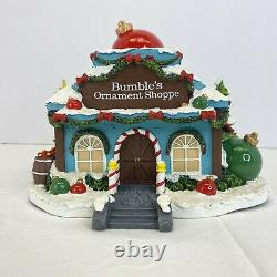 Bumbles Ornament Shoppe Shop Rudolphs Christmas Town Hawthorne Village Lighted
