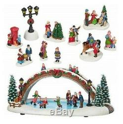 CHRISTMAS VILLAGE ANIMATED WithLIGHTS & MUSIC, 30 PIECES NIOB