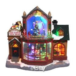 Carole Towne CHRISTMAS Collection Pap Pap's Toy Box Animated Lighted 11