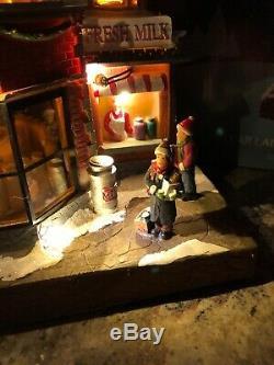 Carole Towne Lemax Animated Malvey's Dairy NIB Christmas Village Lighted Musical