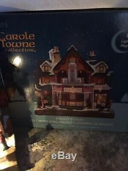 Carole Towne Lemax Animated Malvey's Dairy NIB Christmas Village Lighted Musical