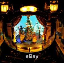 Carole Towne Shirley's Nutcracker Suite Christmas Village Animated Sound Light