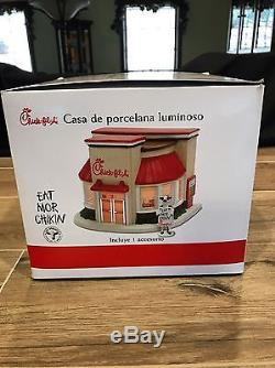 Chick-Fil-A Santa's Best Porcelain Restaurant Illuminated Building, NEW! RARE