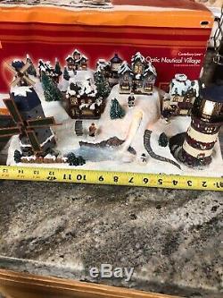 Christmas Animated Windmill Lighthouse Beacon Lighted Village Fiber Optic 16