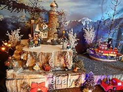 Christmas BY SEA Lighthouse cliff Village Display platform base Dept 56 Ocean