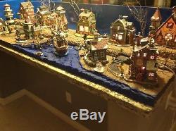 Christmas Village Platform.Christmas Village Display Platform Ocean Scene For Lemax
