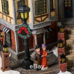 Christmas Village House Musical Animated Holiday Downtown Tabletop Decoration