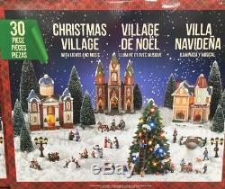Christmas Village LED Lights And Music