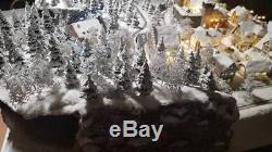 Christmas model train diorama