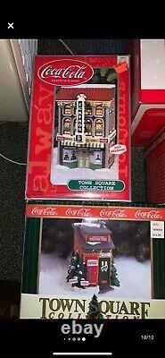 Coca Cola Village 12 Pieces-excellent condition