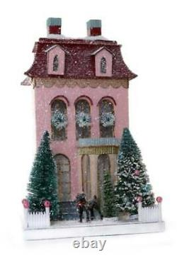 Cody Foster Pink Chateau Putz House Christmas Collectible Cottage Chic Village