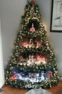 Corner Christmas Tree village Display