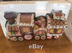 Cracker Barrel Lighted Fiber Optic Gingerbread Train Home Decor NEW NIB FAST FRE