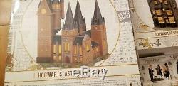 DEPT 56 HARRY POTTER Village Bundle HOGWARTS Great Hall & Tower/WAND SHOP/HUT