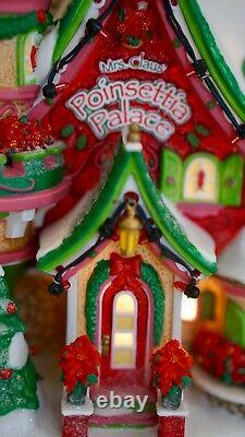 DEPT 56 North Pole POINSETTIA PALACE Christmas Village Retired Decor