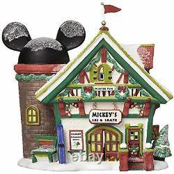 Department 56 Disney Village Mickey's Ski & Skate Chalet Lit House 6.5 811263