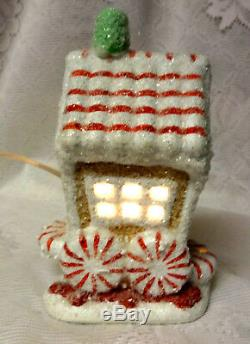 Department 56 Gingerbread Candy Cane Car Christmas Treats Express Lighted House