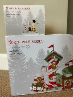 Department 56 North Pole Candy Striper AND Puttin' On the Stripes FREE SHIPPING