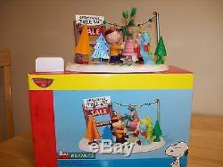 Department 56 Peanuts Tree Lot Charlie Brown Snoopy Christmas figurines MIB