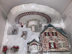 Department 56 Snow Village Christmas Lane Santas Wonderland House With Train